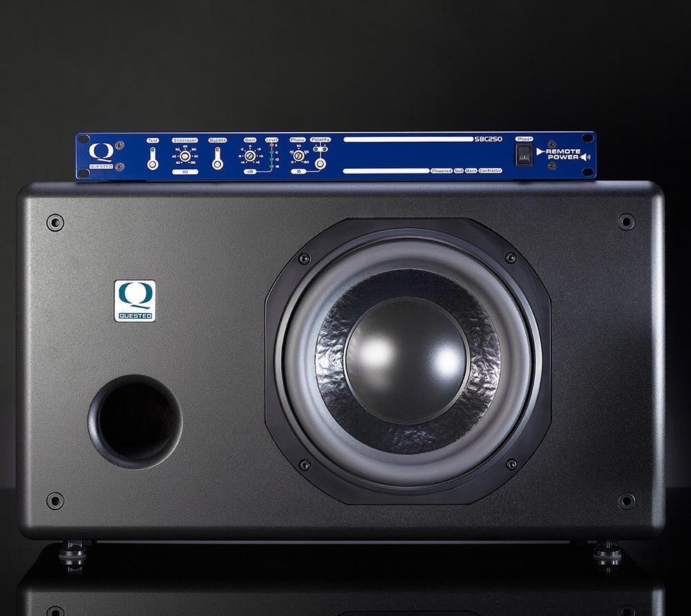 Quested Sb10r 10 Inch Powered Sub Woofer With Controller